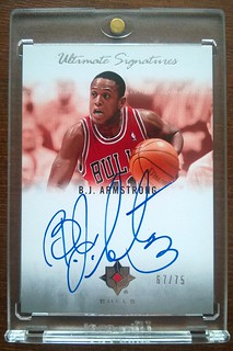 2007-08 Ultimate Collection Signatures #BA B.J. Armstrong /75 | by milkowski.pawel