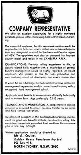 Newspaper job ad for Golden Fleece | Dave Murchie | Flickr