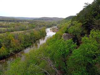 View Northward from North Overlook of the Illinois River