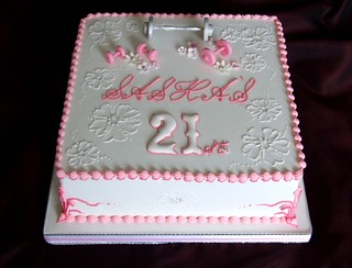 Awesome 21St Birthday Cake Pretty Pink And White With Weights Flickr Funny Birthday Cards Online Inifofree Goldxyz