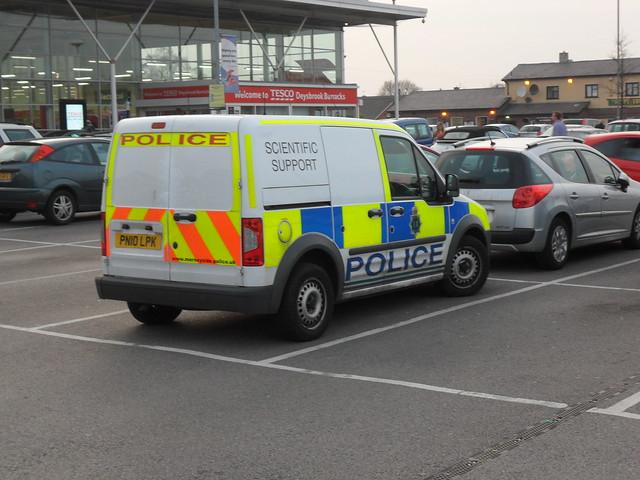 Merseyside Police Ford Transit Connect (PN10 LPK)