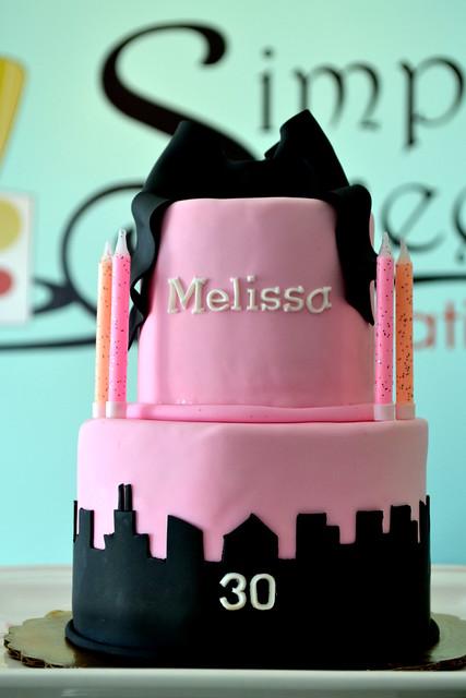 City Skyline Cake