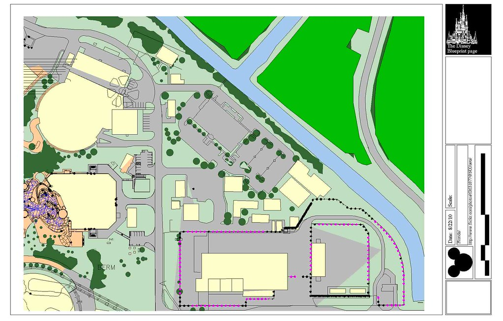 Epcot enlarged site plan | wonders of life, space, backstage