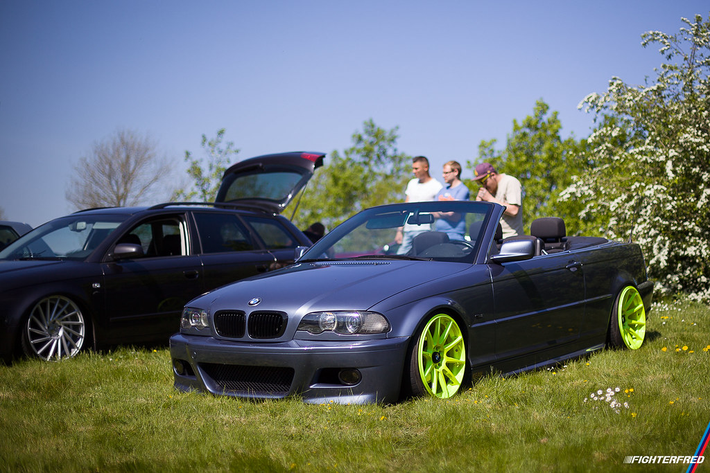 Bmw E46 Cabriolet Yellow Jr11 Wheels Laylow 2016 Flickr