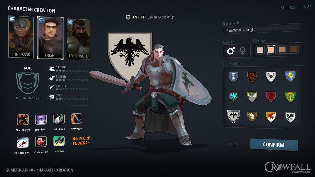 Character Selection Screen - Crowfall MMORPG | Screenshot fr