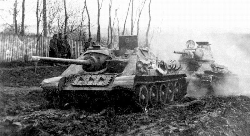The СУ-85 and T-34 in German service