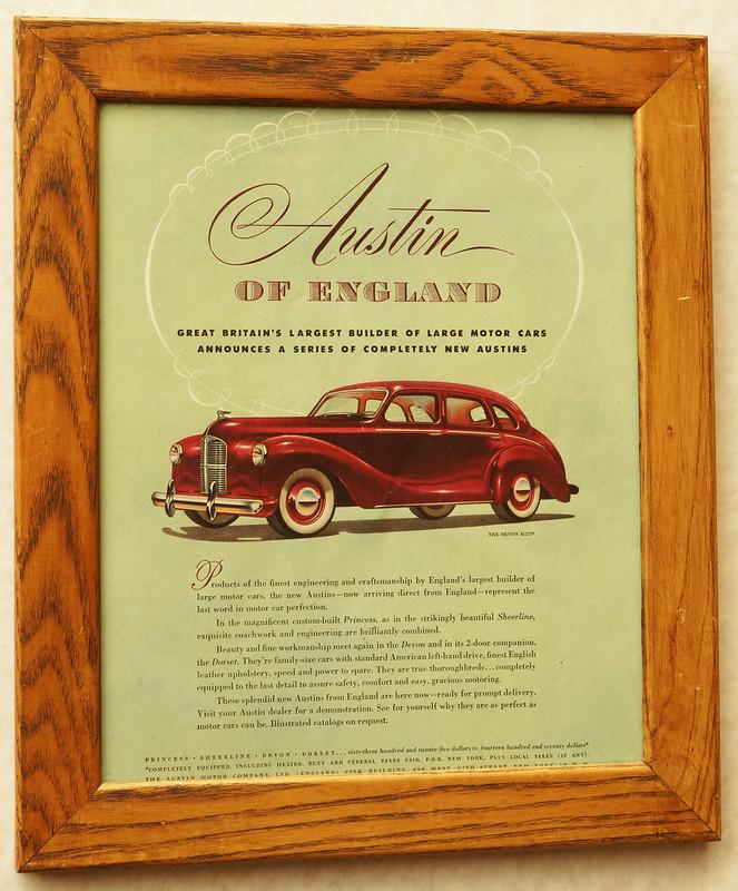 CM064 1948 Austin Car Ad Framed DSC04385