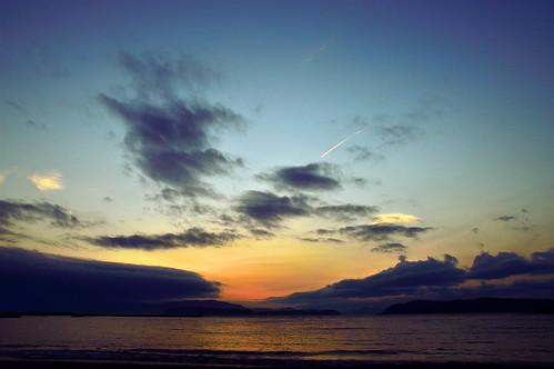 sunset japan seashore 夕景 海 和歌山 淡路島 加太