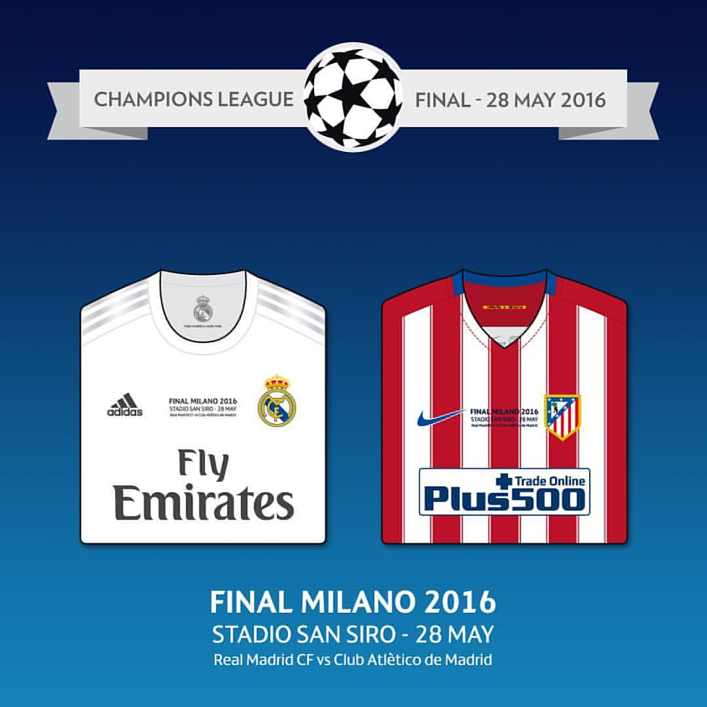 newest 4a2c8 31407 Champions League final 2015/2016 shirts - Real Madrid vs A ...