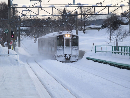 簗場駅にて2015年3月撮影