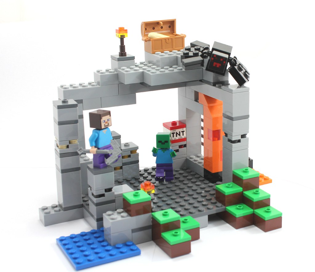 Lego Minecraft The Cave alternate build | Day 3, of the buil… | Flickr