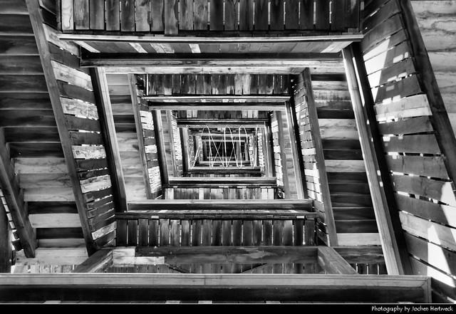 Goetheturm Staircase, Frankfurt, Germany