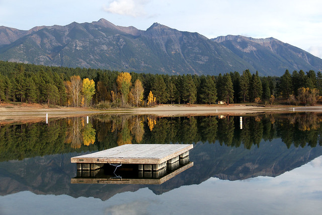 Floating dock, Wasa Lake