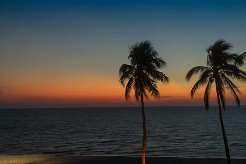 sunset sky sun color mexico evening gulf