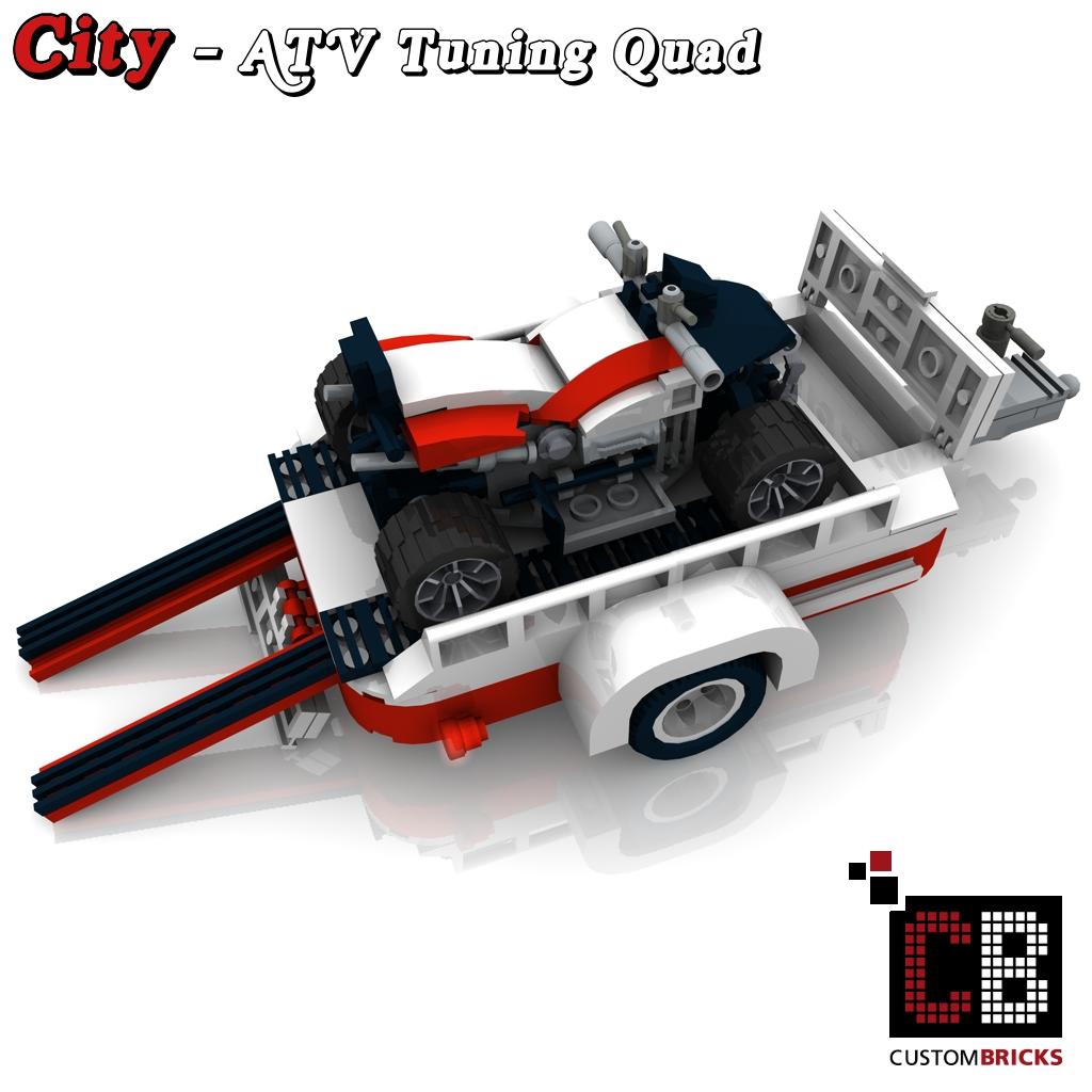 LEGO Custom VW T1 Bus ATV Tuning Quad 10220 CB4   The Custom