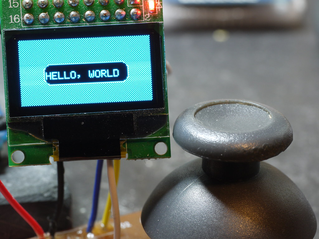 Pong Game on Arduino and OLED Display | 128x64 pixel graphic