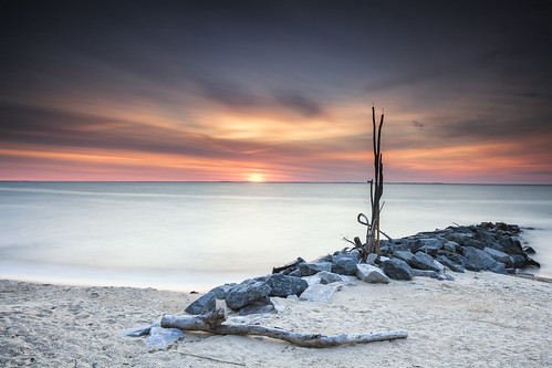 longexposure beach colors sunrise dawn jetty maryland northbeach chesapeakebay flickrfriday leefilters singhrayfilters unexpecteddetail darylbensonrgnd littlestopper