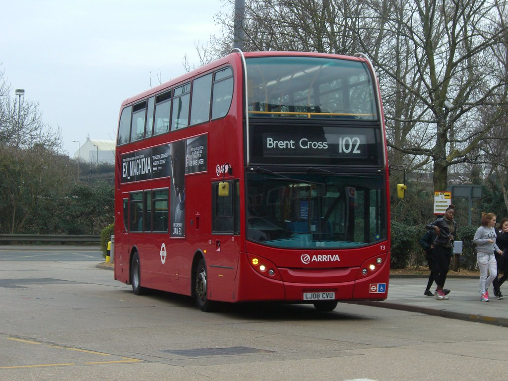 Arriva London: 3 CLT (LJ08 CVU)/ T3 on route 102 to Brent
