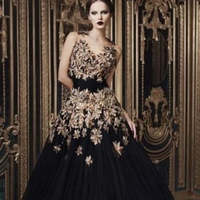 e64a4fb95fca ... Gold and Black Ball Gown | www.dariuscordell.com | #dresses  #eveninggowns