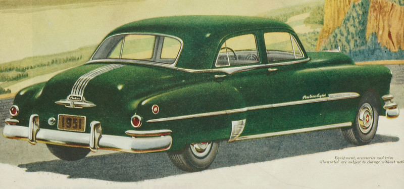 CM041 1951 Pontiac Car Ad Framed DSC04167 crop