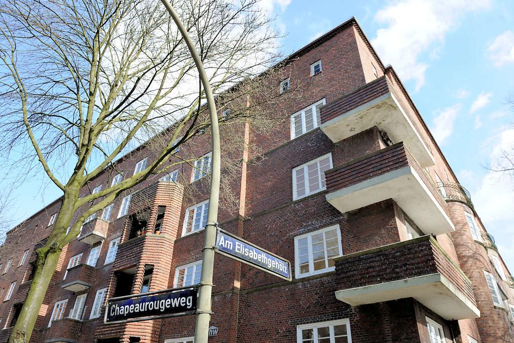 4632 Wohnhäuser ELISA / Das historische Backstein-Ensemble ELISA in Hamburg Hamm war Ausdruck der Hamburger Architektur der 1920er Jahre in der Ära des Oberbaudirektors Fritz Schumacher.