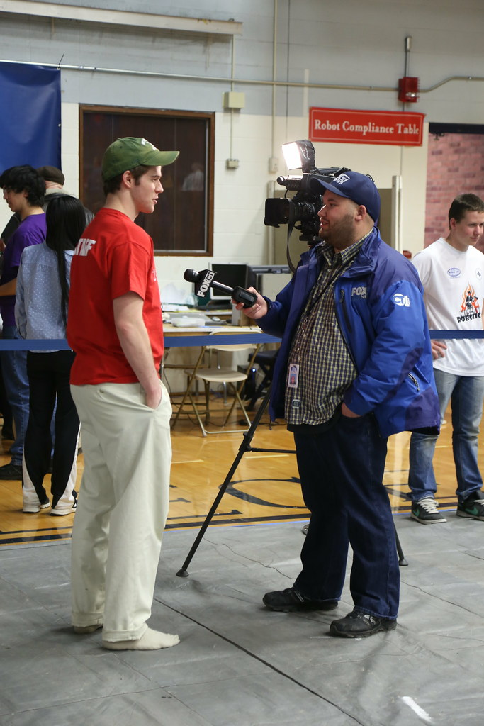 Dana Wensberg '18, being interviewed by Fox CT News | Flickr