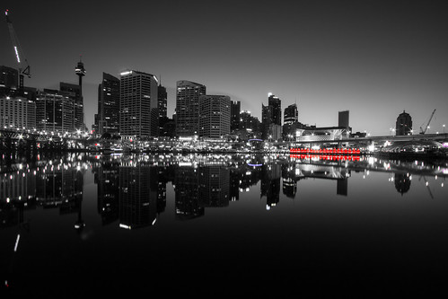 longexposure red sky bw sun black nature architecture clouds sunrise canon buildings reflections lights blackwhite exposure noir tripod sydney australia darlingharbour cbd filters cocklebay widelens whiteblackandwhite leefilters mariobekes darknoir mariobekesphotography