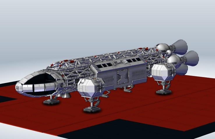 Eagle transporter - MLCAD + Solidworks - Space 1999 | Flickr