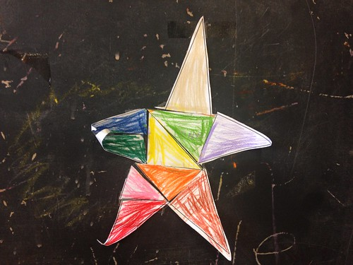 Child Colored Star on Blackboard | by stevendepolo