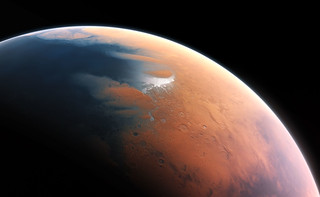 Artist's impression of Mars four billion years ago | by European Southern Observatory