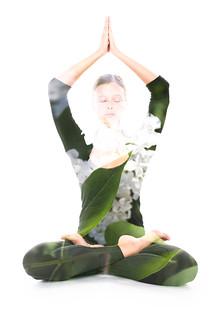 Yoga, double exposure   by Victor Tondee