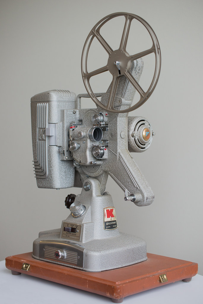 Keystone 109D 8mm movie projector | A series of photographs