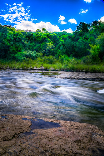 sky house motion tree nature water creek austin landscape outside outdoors us texas unitedstates serene hdr portraitorientation