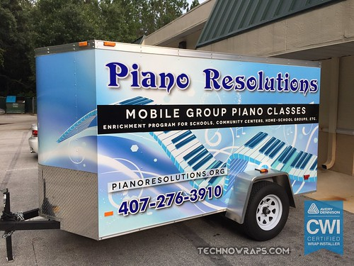 Vinyl trailer wrap graphics
