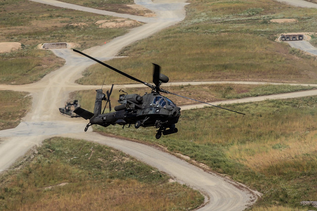 AH-64 Apache Provides Attack Support for Ground Forces During Combined Exercise in South Korea