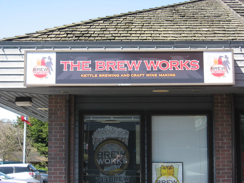 Brew works backlit cabinet