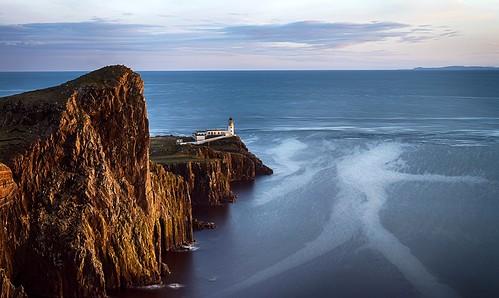 ocean sunset lighthouse skye point landscape coast licht scotland rocks zee vuurtoren kust neist 2015 neistpoint breathtakinglandscapes