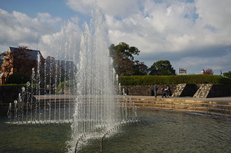 Dans le parc de la paix