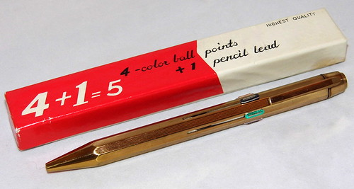 Vintage Multi-Color Ballpoint Pen, 4 Color Ball Points + 1 Pencil Lead, Made In Japan | by France1978