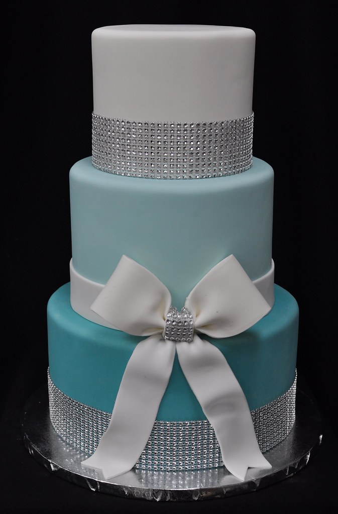 Groovy Tiffany Blue Bling Cake Jenny Wenny Flickr Funny Birthday Cards Online Alyptdamsfinfo