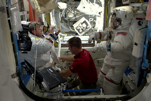 Removing the spacesuit | by Thomas Pesquet