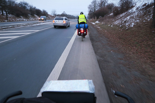 Rolling into Prague along the main way | by najuste
