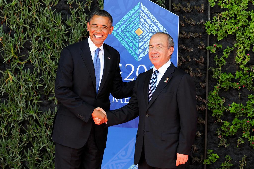 G20 Obama y Calderon