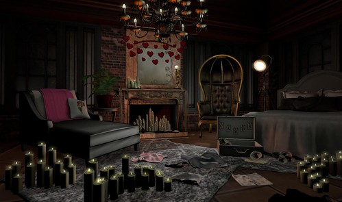 Dark Romance Bedroom (Brook Hill Living & Park Place) | by Hidden Gems in Second Life (Interior Designer)