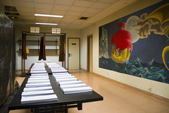 En la imagen se pueden ver las papeletas del Colegio del Centro Cívico Miguel de Unamuno