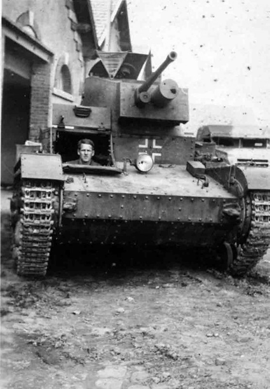 ポーランド7TPタンクを捕獲