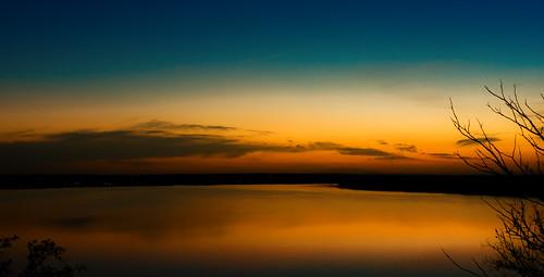 longexposure sunset lake reflection texas lakeworth