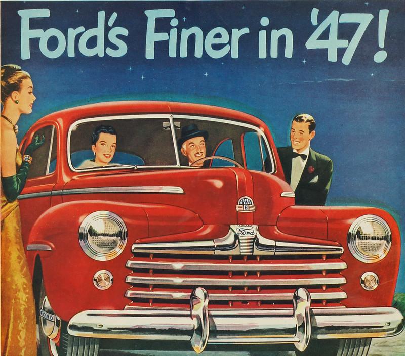 CM061 1947 Ford Car Ad Framed DSC04174 crop