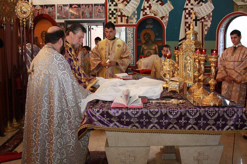 Holy Week services at Holy Taxiarhai and Saint Haralambos