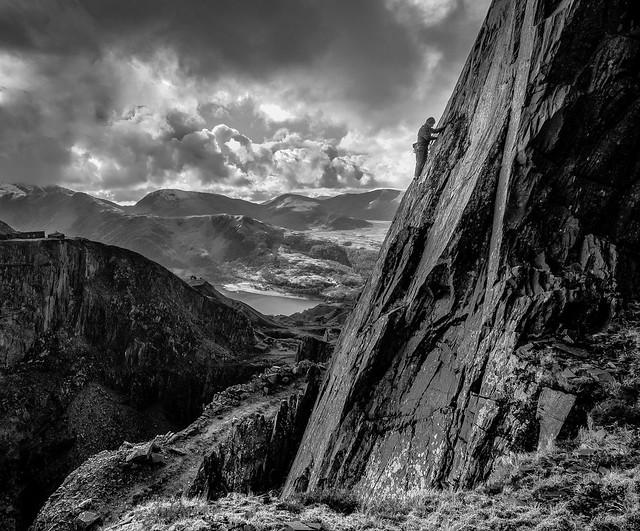 Climb up to the sky...Dinorwig quarry. Snowdonia.
